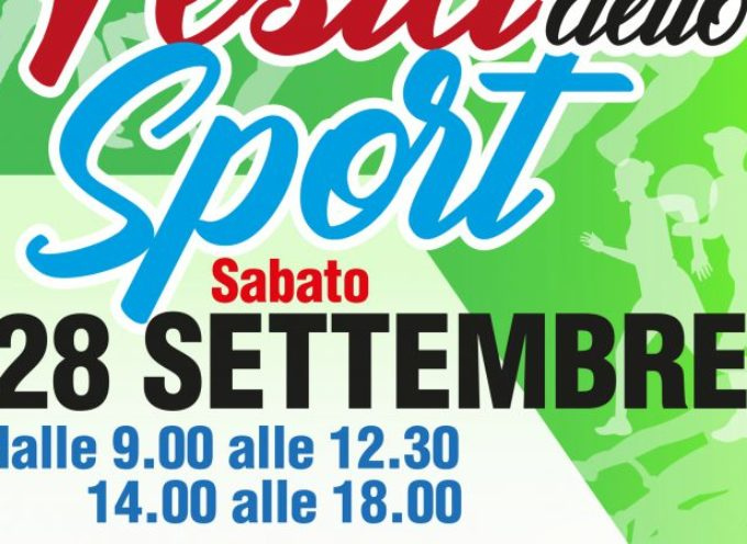 A Porcari torna la Festa dello Sport, centinaia di ragazzi pronti a scoprire le varie discipline