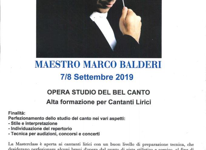 """VILLA BERTELLI – """"Opera studio del bel canto alta formazione per cantanti lirici"""" a cura del Maestro Marco Balderi"""