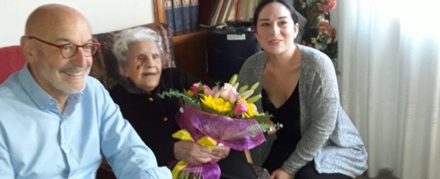 109 anni e gli auguri del Sindaco