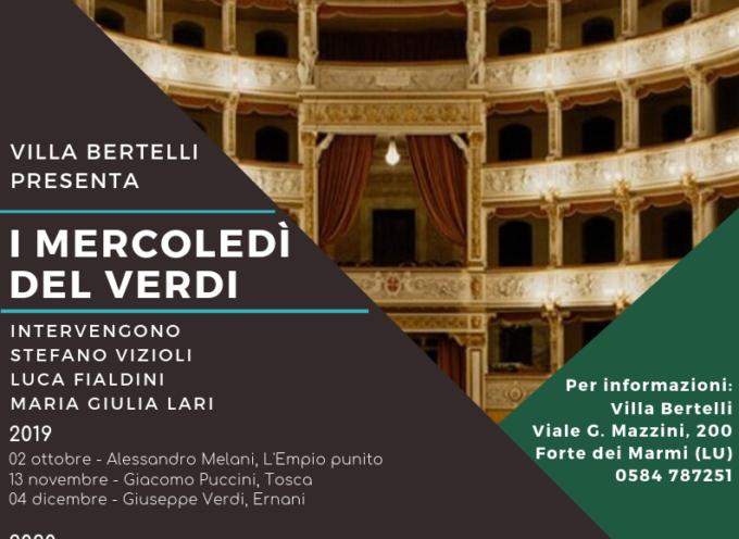 A Villa Bertelli torna la rassegna I mercoledì del Verdi