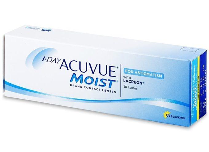 Richiamo volontario delle lenti a contatto Acuvue Moist 1 giorno per astigmatismo della Johnson & Johnson