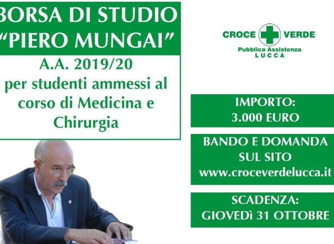 """PUBBLICATO IL BANDO PER LA BORSA DI STUDIO """"PIERO MUNGAI"""""""
