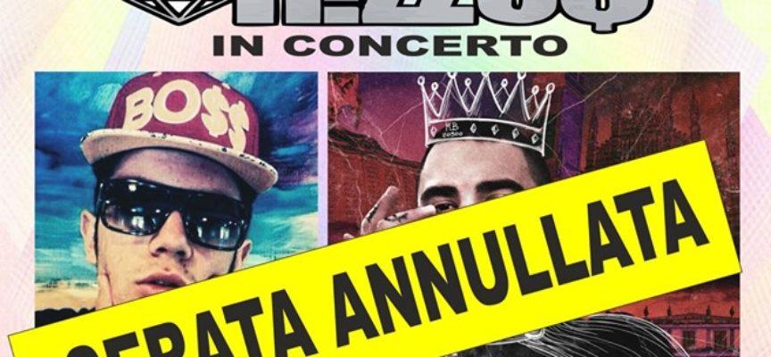 ANNULLATO il concerto rap del 7 SETTEMBRE al Foro Boario di Monte S. Quirico con M.Rizzus