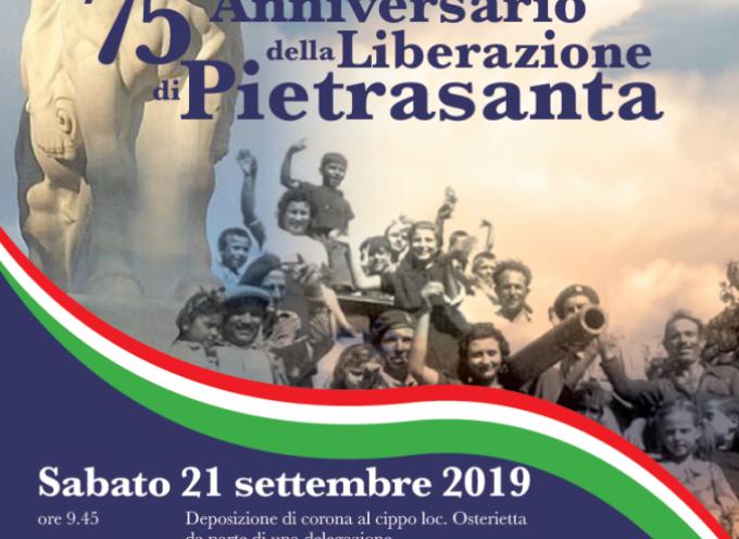 TANTE CERIMONIE IN CITTÀ PER 75ESIMA FESTA DELLA LIBERAZIONE DI PIETRASANTA,