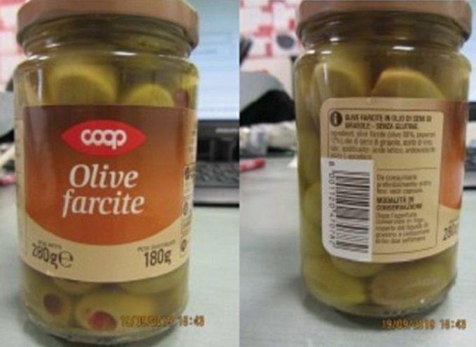 Coop richiama Olive farcite: rischio presenza di solfiti
