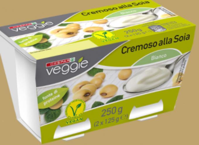 richiamo di un lotto di Yogurt Cremoso alla soia a marchio Despar