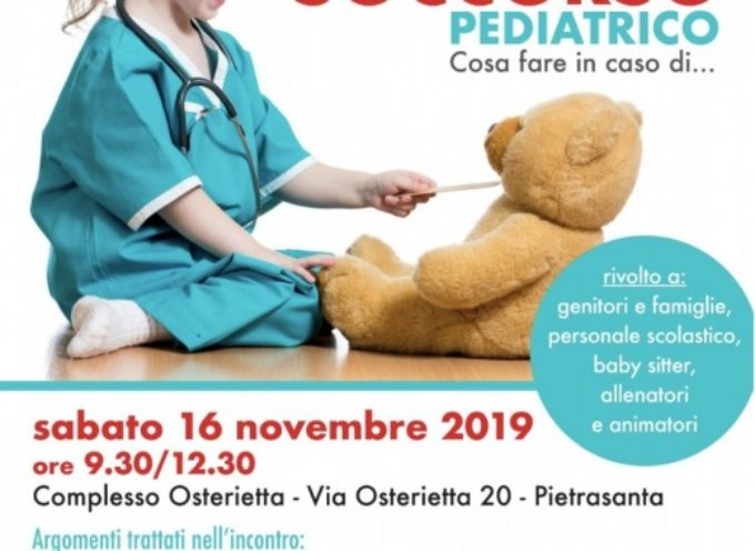 PIETRASANTA – cosa fare in caso di…emergenza, corso gratuito di primo soccorso pediatrico per i genitori (e non solo)