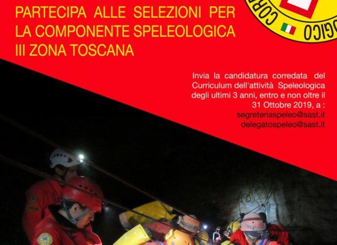 si svolgeranno le selezioni per l'inserimento dei nuovi speleologi tra i soci della III Delegazione Speleologica Toscana