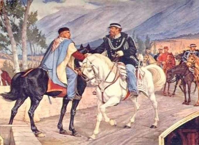 Il 26 ottobre, molto probabilmente a Teano, ci fu l'incontro tra Giuseppe Garibaldi e Vittorio Emanuele II: