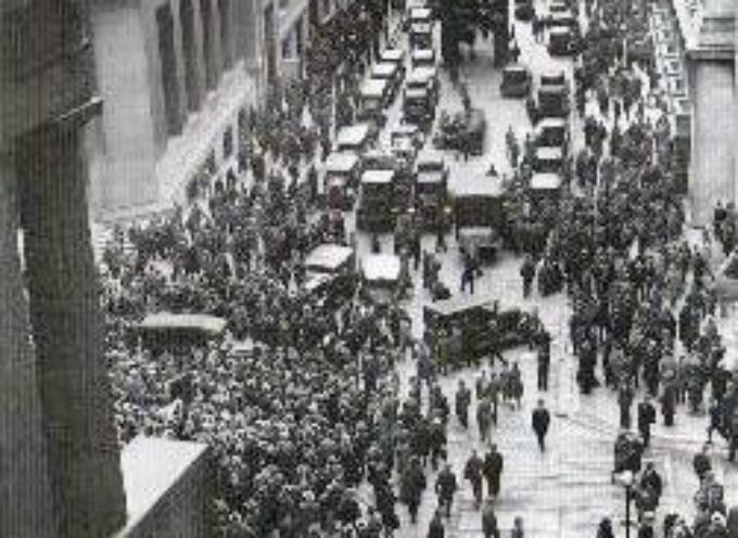 """29 ottobre 1929. A Wall Street è il """"martedi nero"""" :"""