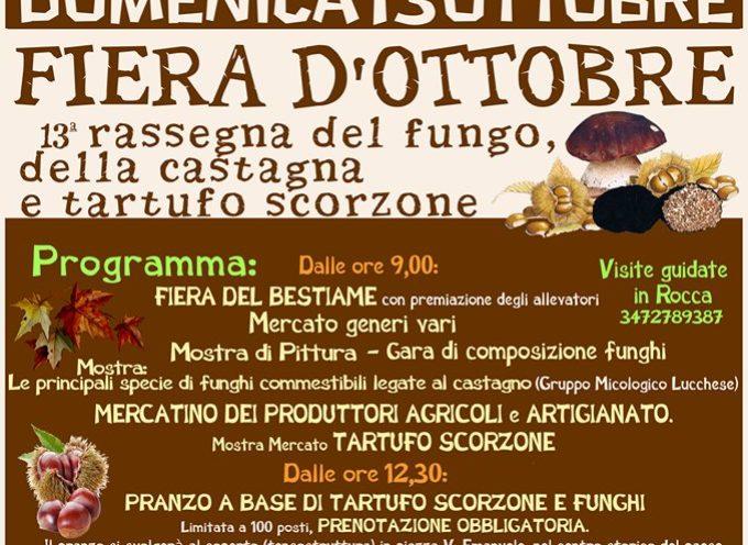 CASTIGLIONE DI GARFAGNANA – FIERA D'OTTOBRE, 13° Rassegna Fungo, Castagna e Tartufo Scorzone.
