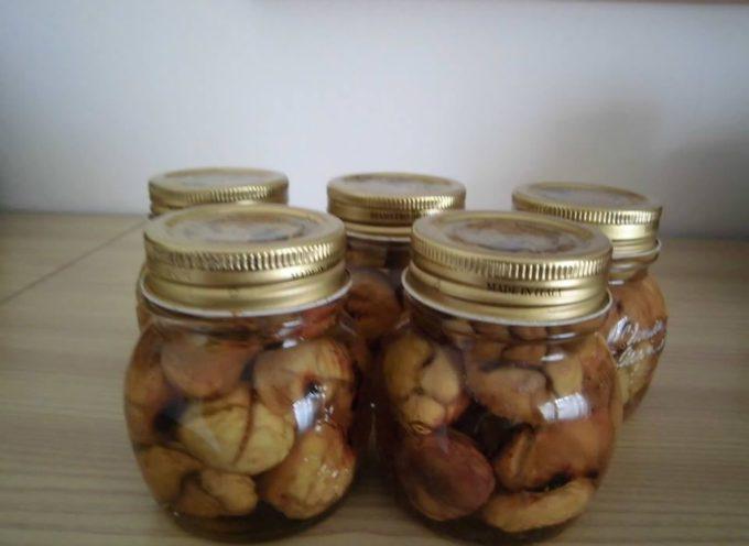 le conserve di stagione: le castagne sciroppate.