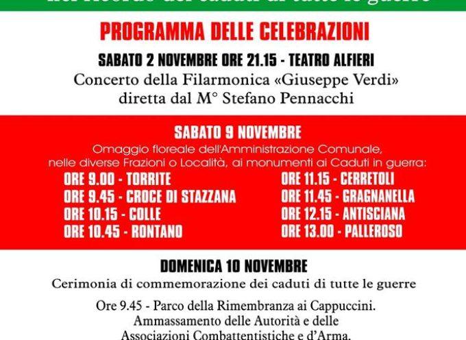 PROGRAMMA DELLE CELEBRAZIONI DEL 4 NOVEMBRE NEL COMUNE DI CASTELNUOVO DI GARFAGNANA