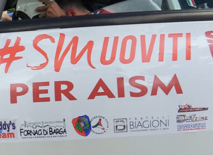 Rally e solidarietà a Fornaci di Barga con l'AISM