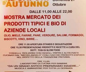 Azzano 26 e 27 ottobre – I Sapori di Autunno con Menu' a tema e laboratori per bambini