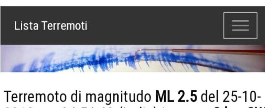 Secondo terremoto in due giorni, in Versilia