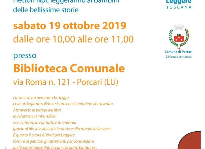 PORCARI – Il 19 ottobre torna in Biblioteca Nati per Leggere