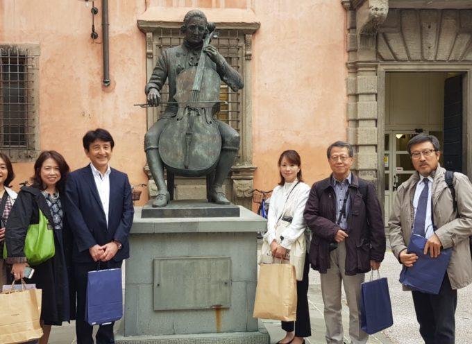 Una delegazione di Nagasaki la città Giapponese dell'isola di Kiushiu dove Giacomo Puccini ha ambientato la commovente storia di Cio Cio San in visita nella Terra di Puccini.