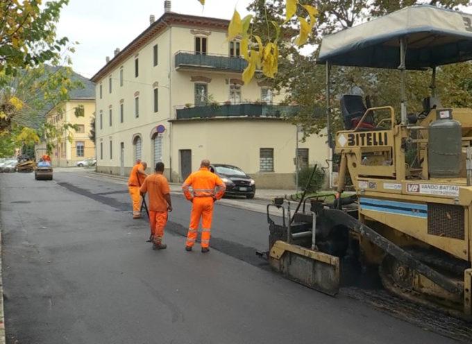 Lavori per la riqualificazione ingresso di Borgo a Mozzano