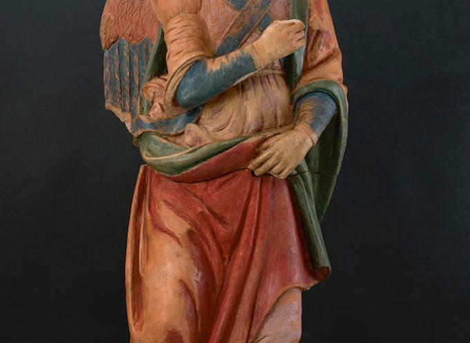 L'Arcangelo Gabriele di Leonardo, custodito a San Gennaro, in mostra a Vinci