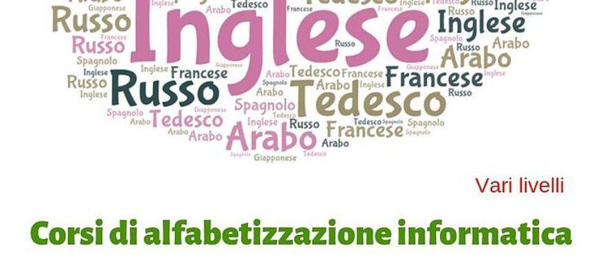 Aperte le iscrizioni ai corsi di lingue straniere e alfabetizzazione informatica per adulti