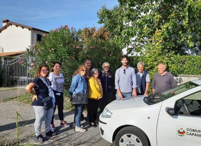 Spartitraffico e modifiche allo stop per rendere più sicuro l'incrocio fra via della Chiesa e via del Franceschi a Parezzana