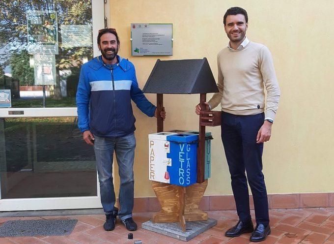 CAPANNORI – Arrivano 20 cestini in legno recuperato per la raccolta differenziata negli edifici pubblici