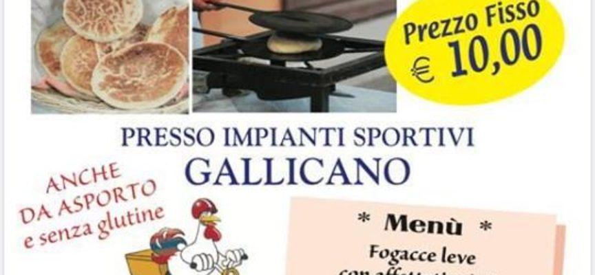 Focacce leve a pranzo – Impianti sportivi – Gallicano