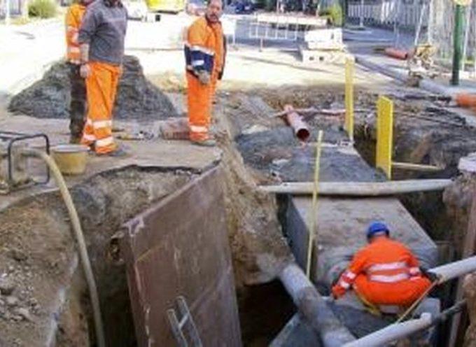 Lavori per sostituzione dell'acquedotto a Massarosa