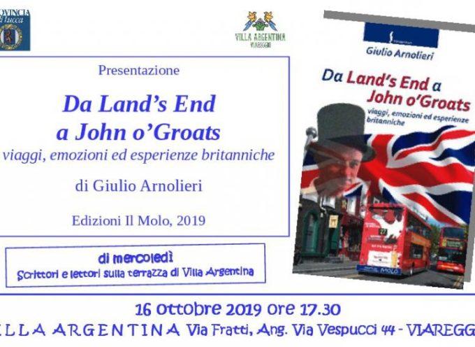 """A Villa Argentina si presenta il libro """"Da Land's End a John o'Groats"""""""