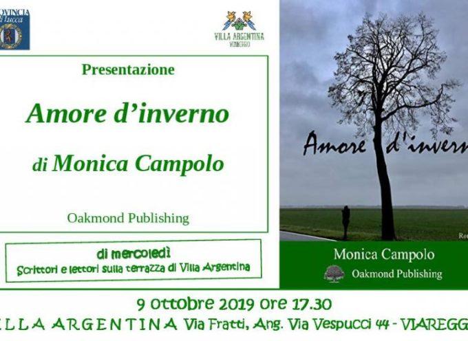 """A Villa Argentina si presenta il libro di Monica Campolo """"Amore d'inverno"""""""