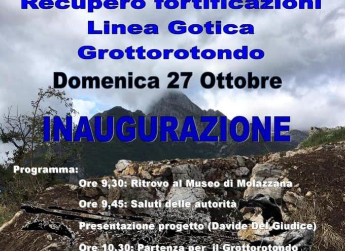 Inaugurazione recupero nuove fortificazioni Linea Gotica, Grottorotondo – Molazzana