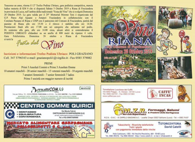 Trofeo Podista Ubriaco, a Riana – Fosciandora