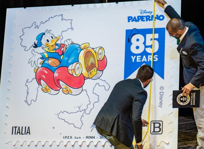 Lucca Comics and GamesE' iniziata con l'annullo filatelico del francobollo dedicato a Paperino