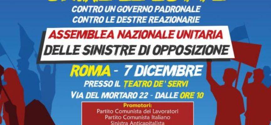 Risultati immagini per roma Assemblea nazionale unitaria delle sinistre di opposizione