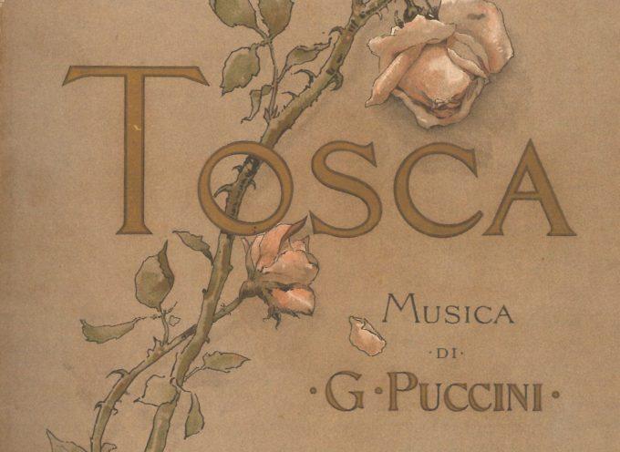 Copia del libretto di lavoro di Tosca del Puccini Museum – Casa Natale di Giacomo Puccini in esposizione presso il Museo Teatrale alla Scala di Milano