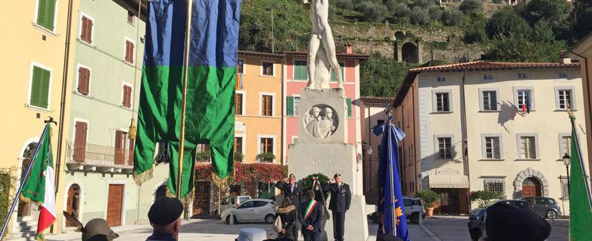 Percorso della Memoria: celebrato a Seravezza il Giorno dell'Unità Nazionale e la Giornata delle Forze Armate