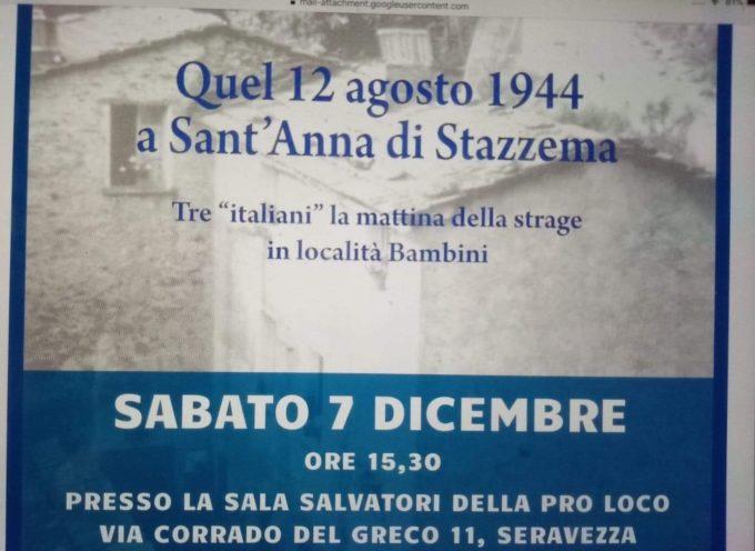"""Pro Loco Seravezza, 7 dicembre – Presentazione del libro """"Quel 12 agosto 1944 a Sant'Anna di Stazzema"""""""