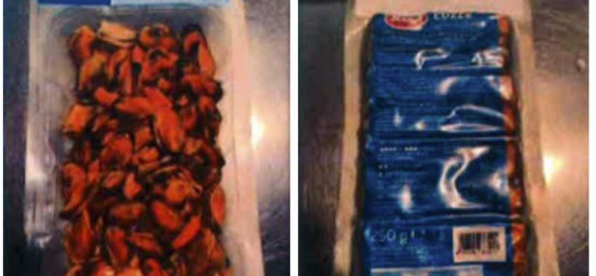 Salmonella nelle cozze sgusciate Selex. L'avviso di richiamo del ministero della Salute per rischio microbiologico