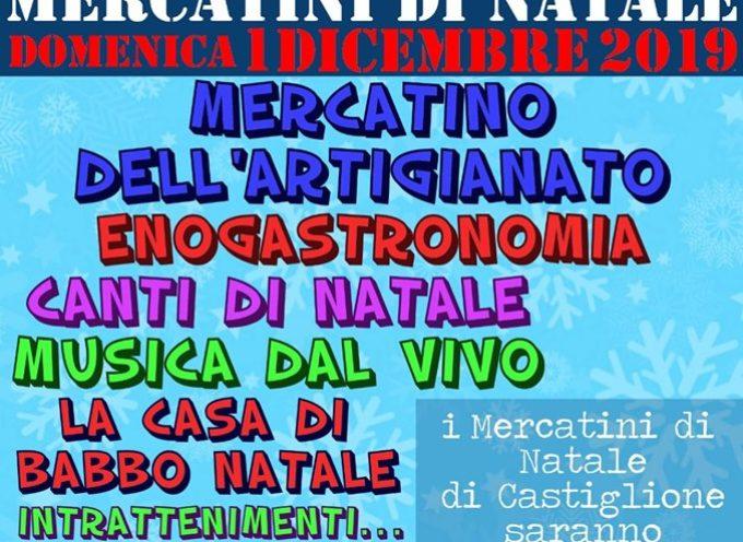 Mercatini di Natale a Castiglione domenica 1 dicembre 2019.