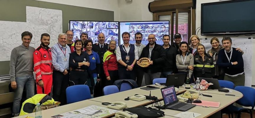 Sempre presente ovviamente la Protezione Civile con il progetto A Lucca…la protezione civile bussa alla tua porta!