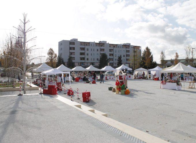 Ultimi ritocchi per il Mercatino di Natale che per la prima volta si terrà nella nuova Piazza Aldo Moro di Capannori.
