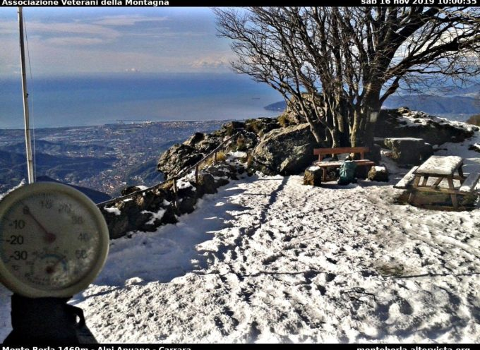 Immagini webcam di stamani