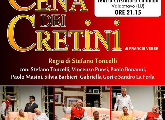 """al Teatro Colombo di Valdottavo la Compagnia del Molo presenterà il suo straordinario cavallo di battaglia, """"La cena dei cretini"""""""