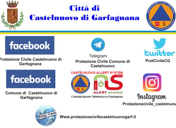 la protezione civile di castelnuovo di garfagnana, comunica , e invita la cittadinanza a seguire i siti istituzionali