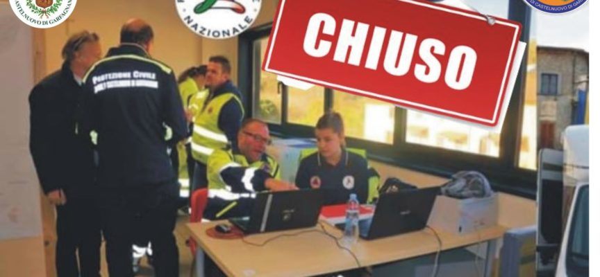 Si comunica che a seguito della regolarizzazione della criticità in atto, il COC (Centro Operativo Comunale) di Castelnuovo di Garfagnana è stato chiuso alle ore 13.00 di oggi