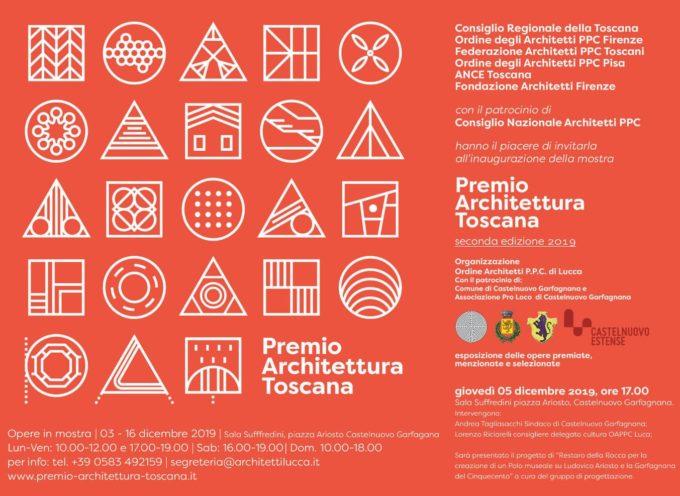 CASTELNUOVO – in Sala Suffredini ci sarà l'inaugurazione della mostra Premio Architettura Toscana.