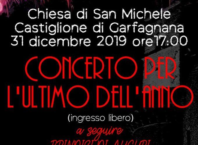 CASTIGLIONE DI GARFAGNANA – Un concerto dedicato all'ultimo giorno dell'anno, per salutarci con musica, luci, suoni e parole.