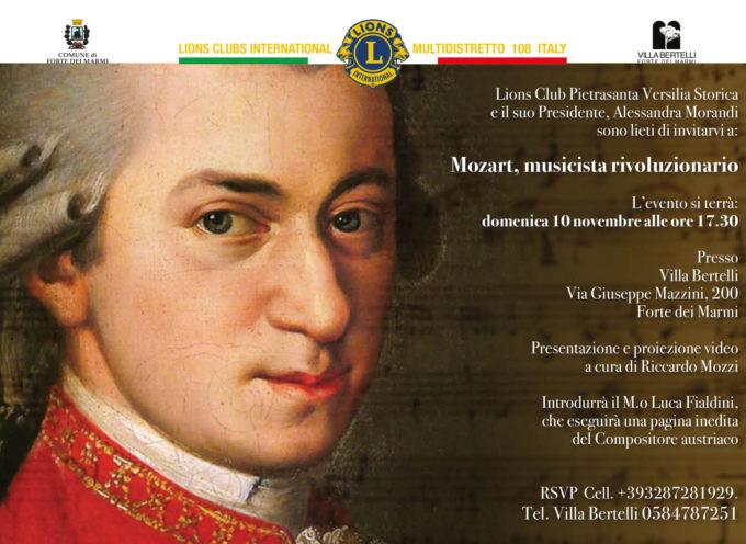 """VILLA BERTELLI – """"Mozart musicista rivoluzionario"""" Conferenza promossa dal Lions Club di Pietrasanta Versilia Storica"""