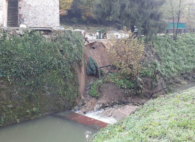 Smottamento sul Rio Leccio, zona nord del Capannorese
